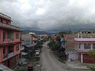 Triyuga - View of a street in Purano (old) Gaighat, ward no. 11