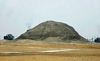 Hawara - The Pyramid of the 12th Dynasty Pharaoh Amenemhat III at Hawara, from the east.