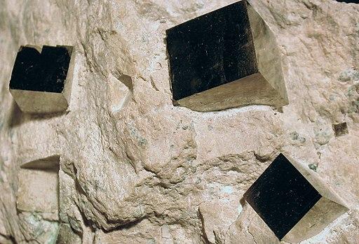 Pyrite-cubes