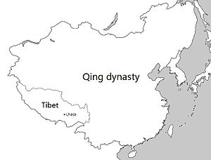 Tibet under Qing rule - Tibet within the Qing dynasty in 1820.