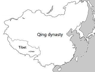 Tibet under Qing rule Tibetian rule from 1721 to 1912