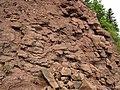 Quartz tholeiite basalt lava flow (flow A, Two Harbors Basalts, North Shore Volcanic Series, Mesoproterozoic, 1097-1098 Ma; Burlington Bay, Two Harbors, Minnesota, USA) 16 (22260840490).jpg