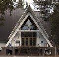 Queen of the Snows chapel at the Village at Squaw Valley, a year-round Sierra Mountain resort in Olympic Valley, west of Tahoe City, California LCCN2013633551.tif