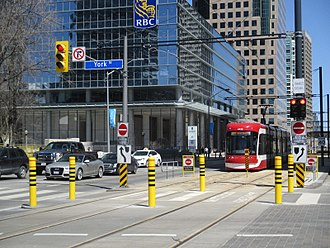 509 Harbourfront - Image: Queens Quay & York Street bollards & signage