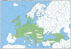 Quercus petraea - range in Europe by Boratynski.png