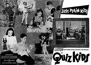 Quiz Kids - 1944 advertisement for Quiz Kids radio show