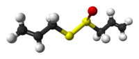 Ball and stick model of R-allicin