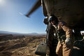 RAF Aircrewman at the Open Doorway of a Merlin Helicopter During Ex Merlin Vortex MOD 45151954.jpg
