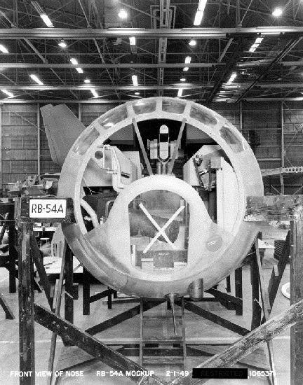 RB-54A mockup nose