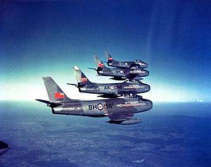 RCAF Station Grostenquin - RCAF Sky Lancers aerobatic team, 1955