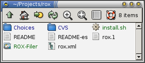 Screenshot of ROX-Filer