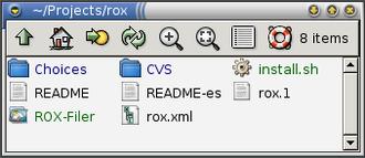 ROX Desktop - Image: ROX Filer