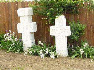 RO PH Mizil stone crosses.JPG