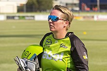 Rachel Priest after the Sydney Thunder vs Adelaide Strikers WBBL game at Robertson Oval.jpg