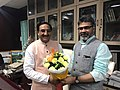 Rajaneesh Kumar Shukla With Education Minister, India.jpg