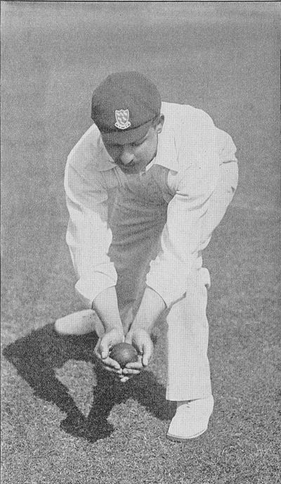 Ranji 1897 page 029 W. Marlow catching the ball low down.jpg