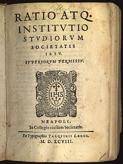 <i>Ratio Studiorum</i> Document that standardized the system of Jesuit education in 1599