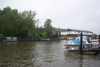 Raven's Ait - Looking downstream from the draw dock