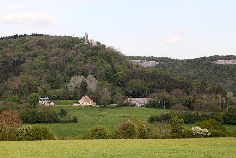 Extrémité nord du ravin de Valbois.