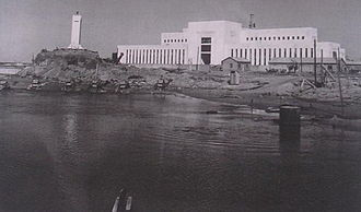Reading Light - Reading Power Station A, c. 1938. Also seen is the lighthouse