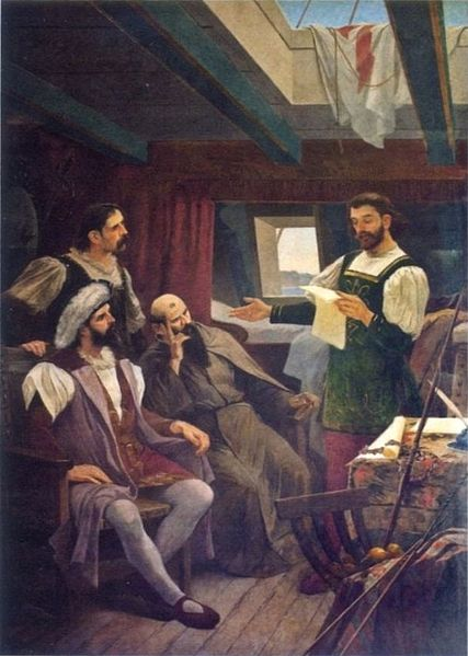 Ficheiro:Reading of the letter of Caminha.jpg