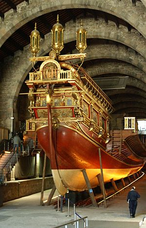 Real (galley) - Image: Real Galley Replica Barcelona