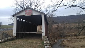 Red Covered Bridge (Liverpool, Pennsylvania) - Image: Red Covered Bridge Liverpool, PA