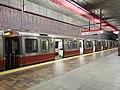 Red Line 1800 series cars at Alewife station (1), November 2019.jpg