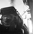 Refilling the Sand Dome of Locomotive 657, Texas and Pacific Railway Company (16111957729).jpg