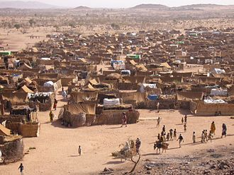 War in Darfur - Darfur refugee camp in Chad, 2005
