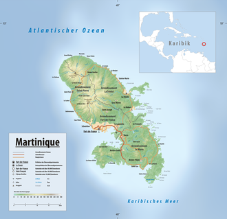 Karte Martinique