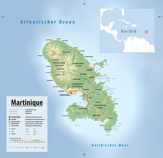 Karte Martinique