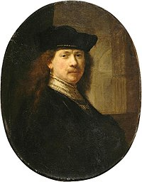 Rembrandt, autoritratto col tocco su sfondo architettonico, 1639 02.jpg