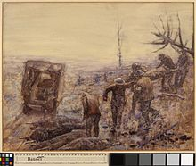 Removing Wounded after the fighting near Moislains, September 1918 Art.IWMART3537.jpg
