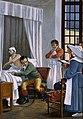 René Théophile Hyacinthe Laënnec auscultating a tuberculous Wellcome V0003303.jpg