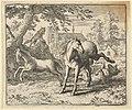 Renard Goes with the Badger to Court to Appease the Lion's Anger from Hendrick van Alcmar's Renard The Fox MET DP837731.jpg