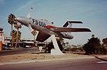 Republic XF-84H Thunderscreech Republic XF-84H, 51-17059-FS-059 on display at Bakersfield Airport, Sept 1982 (16334091461).jpg