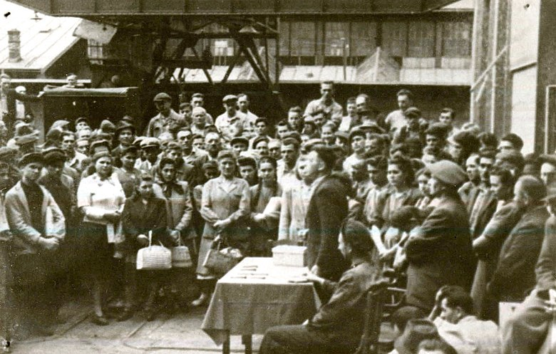 UDR workers celebrating nationalization in 1948 Resita 1948.jpg