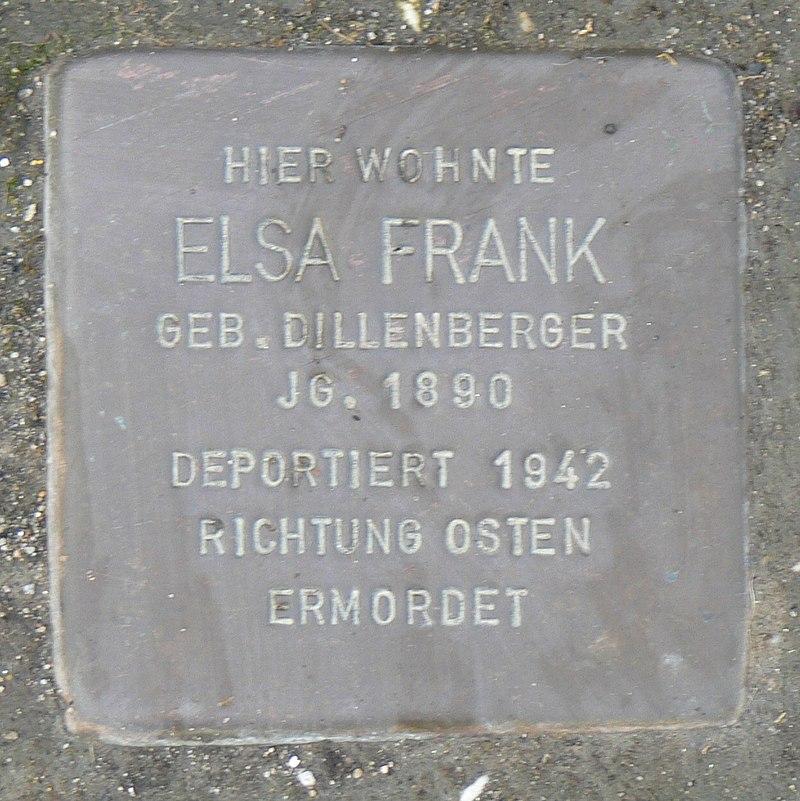 Rimpar Stolperstein Frank, Else.jpg