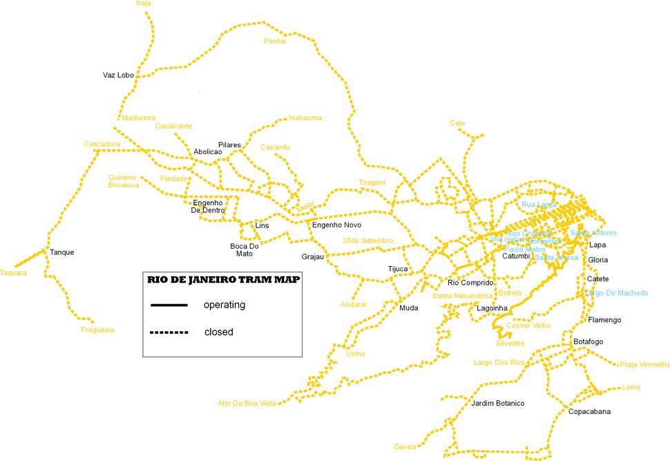 Rio de janeiro tram map