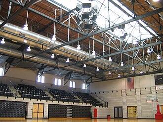 Ritchie Coliseum - The interior of Ritchie Coliseum in 2007.