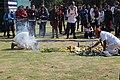 Ritual de petición antes de comenzar un evento de música indígena en la UNAM.jpg