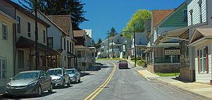 Millheim, Pennsylvania - Image: Road Work Hiatus