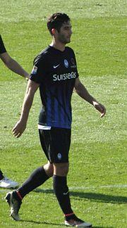 Gagliardini con la maglia dell'Atalanta nell'ottobre del 2016.