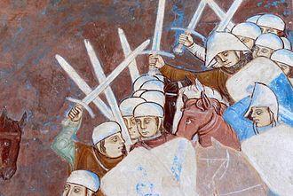 Battle of Desio - Image: Rocca di Angera Sala di Giustizia Fresco Visconti 2
