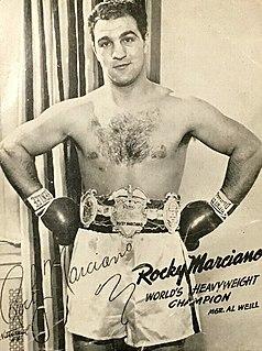 Rocky Marciano American boxer