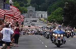 Rolling Thunder (organization) - The Rolling Thunder Run on Arlington Memorial Bridge in 2010