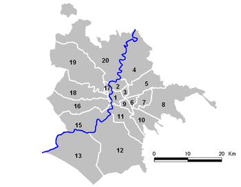 Vecchia suddivisione per municipi del Comune di Roma (2001-2013)