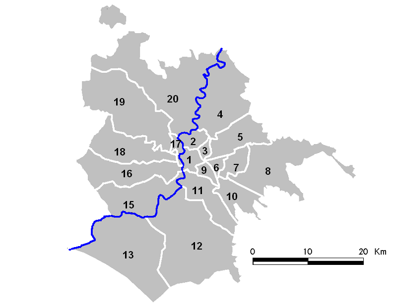Roma - Municipi numerata (2001-2013)