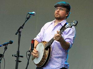 Ron Block - Ron Block playing his banjo